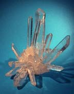 photo of quartz crystal cluster
